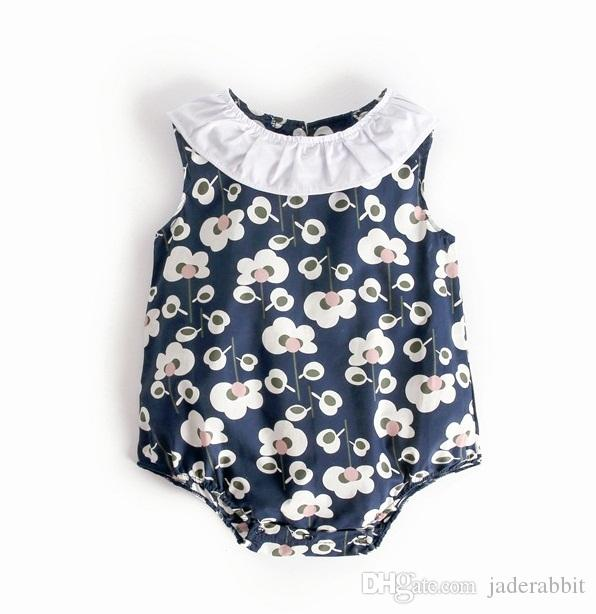 1ec8a1632962 Baby Ruffle Collar Floral Rompers Summer 2018 Baby Clothes for ...