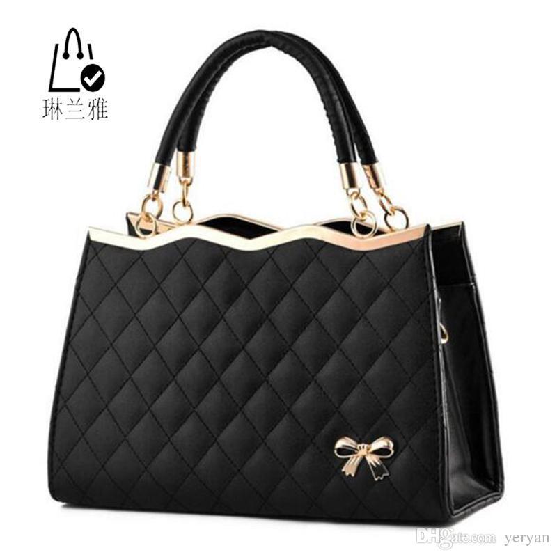b5bf2b6cceba Wholesale Hot Sale New Fashion Women Single Shoulder Bag Plaid Handbag High  Quality Leisure Crossbody Bag Lady Elegant Messenger Bag Z 011 Designer Bags  ...