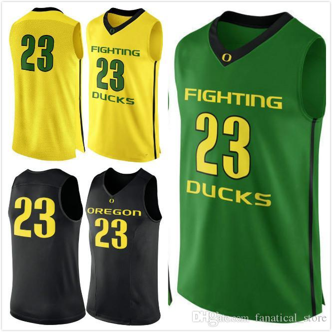 reputable site eaf0a f31cf NO.23 Oregon Ducks Men College Basketball Jersey UO embroidery Athletic  Outdoor Apparel Mens Sport Jerseys Size S-5XL