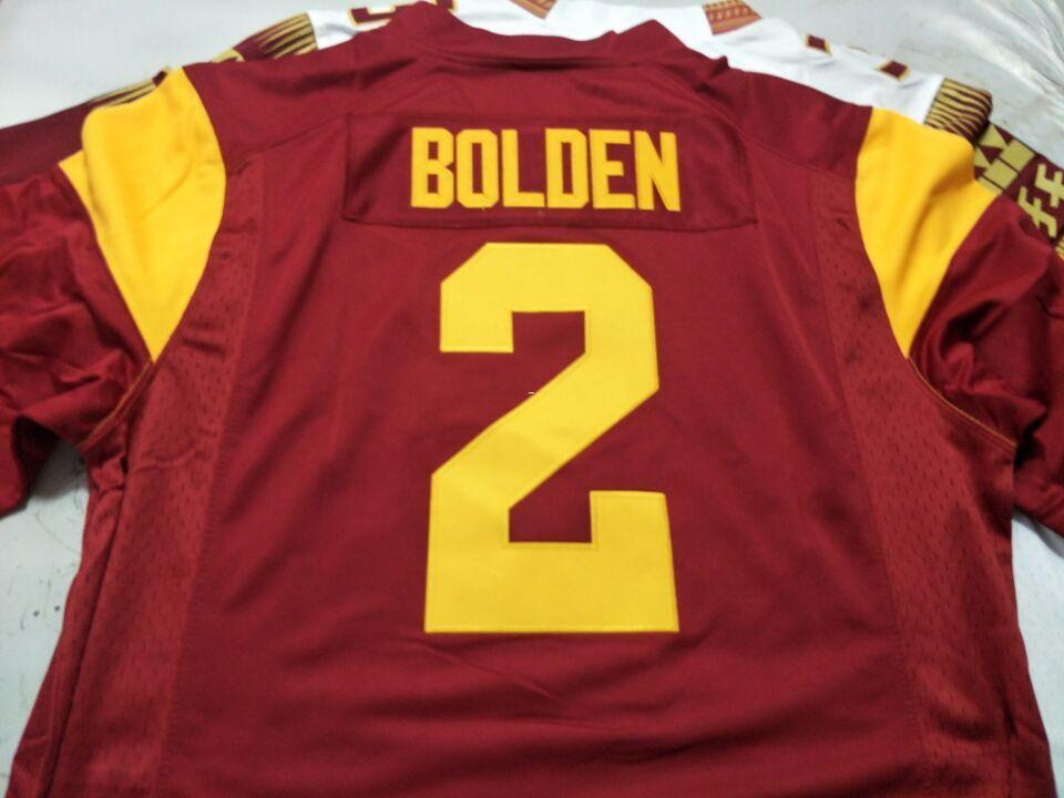 100% authentic 43bd4 88a60 Men USC Trojans Bubba Bolden #2 real Full embroidery College Jersey Size  S-4XL or custom any name or number jersey