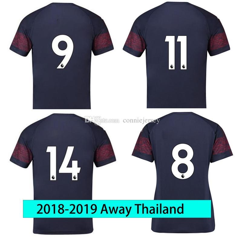 5f847b06fe2 2019 Soccer Jersey Thailand Ar Senal Away 2018 2019 Men JERSEY 18 19 Thai  Football Kit Top Soccer Shirt Dark Blue Sport Shirts From Conniejersey