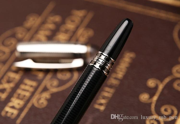أرسل 1 حقيبة جلدية مجانية - جودة عالية من نجوم waikers قلم معدني أسود رولربال قلم جاف قلم حبر جاف