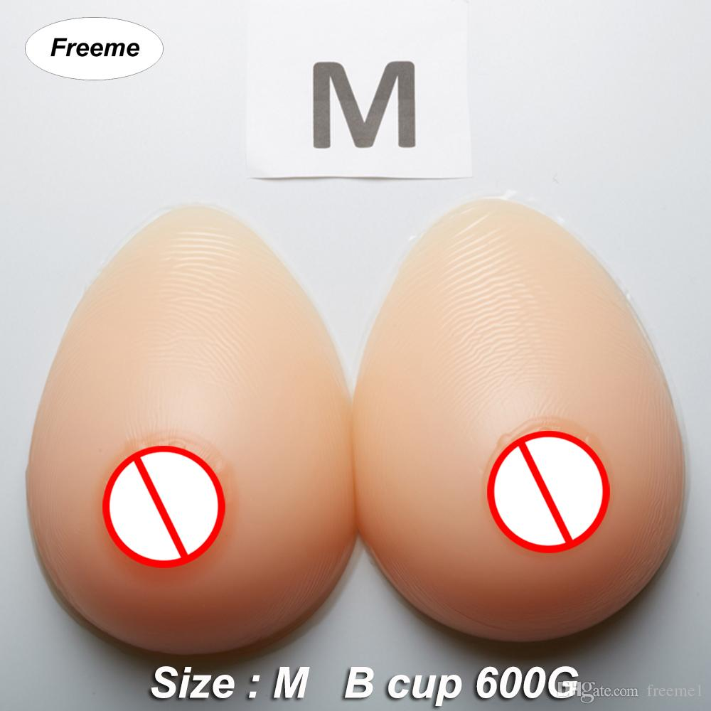 cd65d572f211f Freeme Artificial Silicone Breasts Forms B Cup 600G Pair Mastectomy  Prosthesis False Body Breast Fake Boobs For Shemale Crossdresser Breast  Forms For Cancer ...
