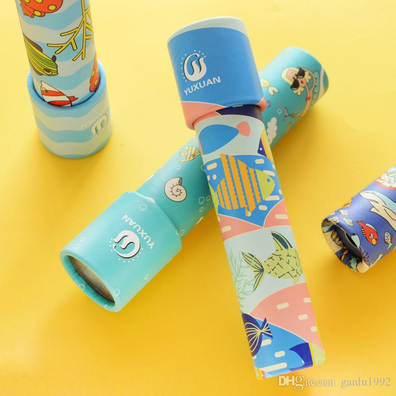 Novelty Games Children Health Material Revolving Kaleidoscope Cultivating The Ability Of Thinking And Observation Cartoon Paper Toy 4 3xm W