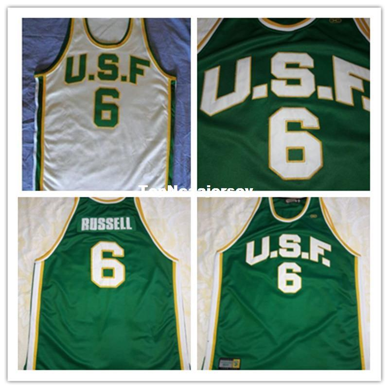 Cheap University Of San Francisco   6 Bill Russell Jersey Any Custom Name 57492deed