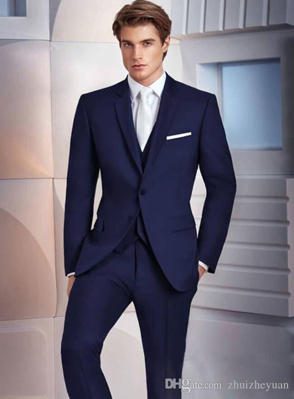 Vestiti Cerimonia Uomo Blu.Acquista Abiti Da Uomo Blu Navy Su Misura La Cerimonia Nuziale