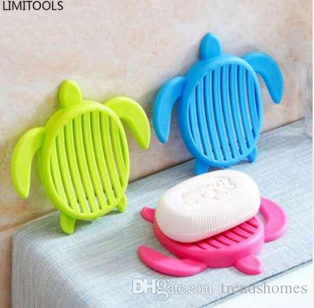 Tortoise Shape Plastic Home Travel Soap Dishes Soap Holder Box with ... b545a78694e2