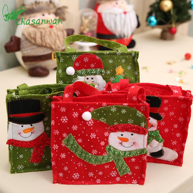 Christmas Decorations for Home Santa Claus Gift Bag Christmas Gift for Guests New Year Decoration Party Supplies Navidad Noel,Q Y18102609
