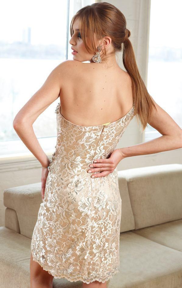 2018 Hot Sale One Shoulder Crystal Lace Sheath Mini Cocktail Dresses Sexy Short Party Prom Dress Vestido de Festa