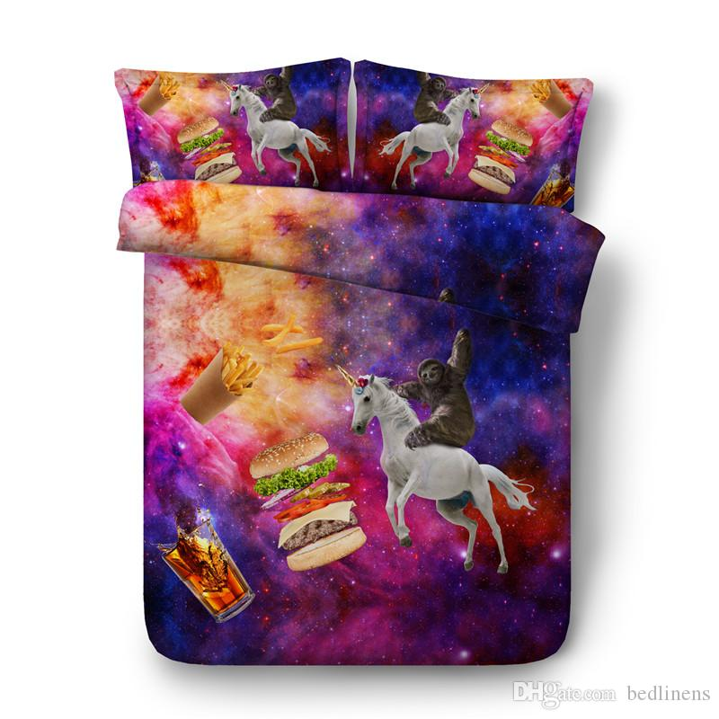 3d Printed Galaxy Horse Bedding Set Twin Full Queen King Size