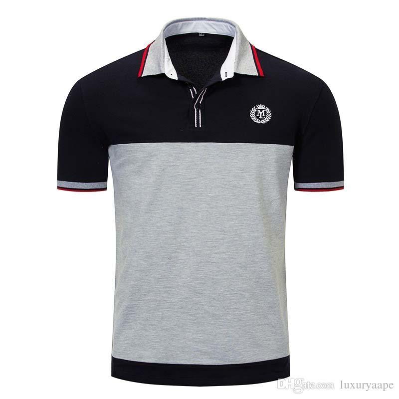 Block Pattern New Spring Two Colors Shirt Men S Polo Shirt Men S