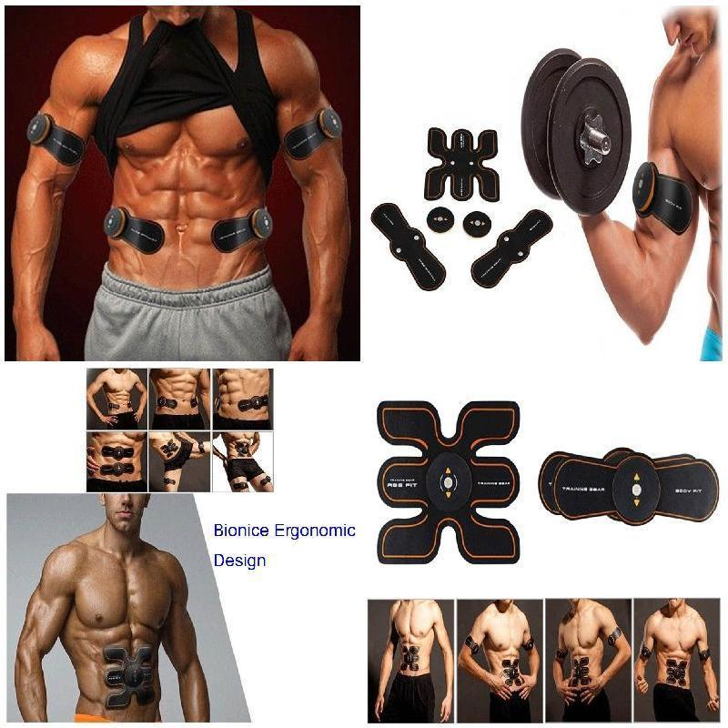 Wireless Intelligent Fitness Instrument Fit Muscle Training Gear Body Home Exercise Shape Fitness Set USB Abdominal Massager