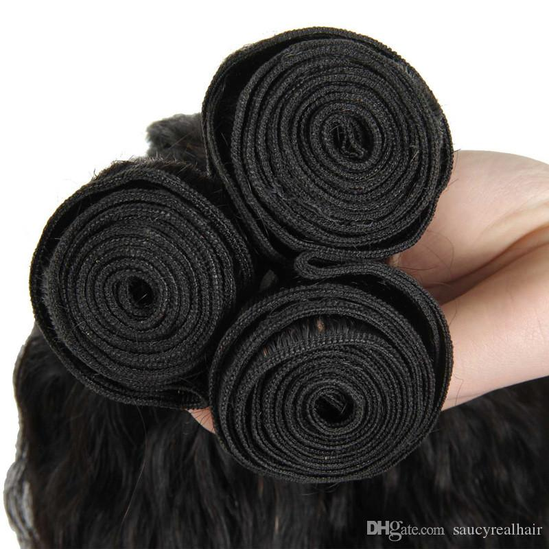 Бразильские девственные человеческие волосы кудрявый прямые волосы расслоение естественный цвет Яки прямая волна волос ткачество, бесплатная доставка