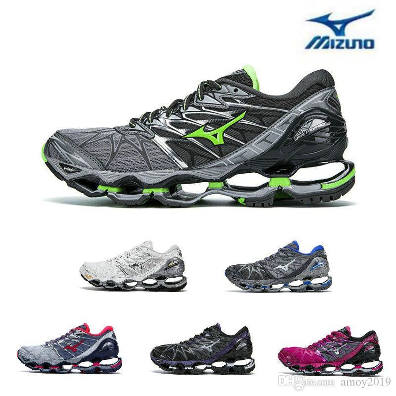 a0816b17d18 Compre 2018 Mizuno Wave Prophecy 7 Zapatillas De Running Moda Para Hombre  Originales Para Mujer Zapatillas Deportivas De Calidad Superior Violeta  Grisáceo ...