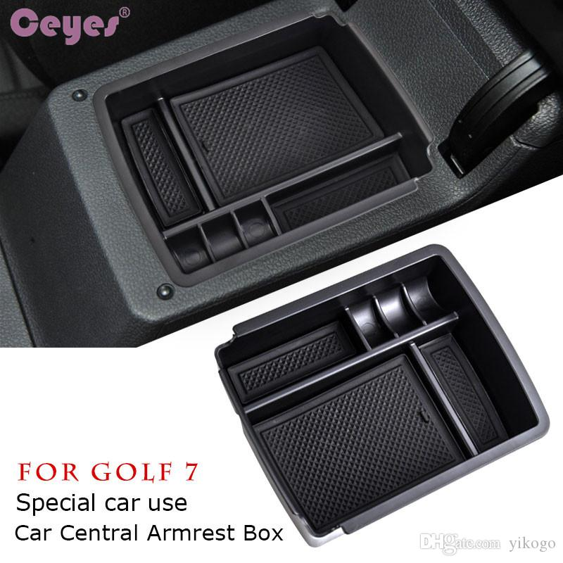 Central Storage Pallet Armrest Container Box For Volkswagen VW Golf 7 MK7 VII 2013 2014 Car Styling Accessories