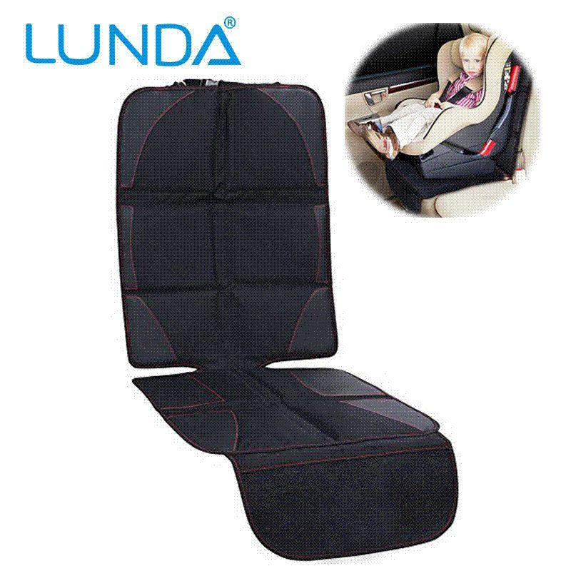 LUNDA Luxury Leather Car Seat Protector Child NbspOr Baby Cover Easy Clean Safety Anti Slip Universal Black Custom
