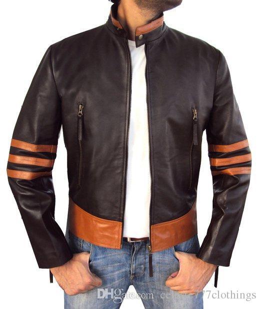 Mens Slim Cuir Vente Chaude Montant En Fit Wolverine Faux Étanche Vestes Moto Col Veste Pu 2019 Outwear Manteaux Mâle CthrxsdBQ