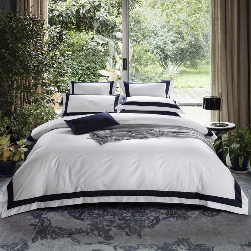 arnigu queen king super king size hotel style bedding set 100 cotton pillow casesflatfitted bed sheetquilt cover queen duvet set gray comforter sets - Hotel Style Bedding
