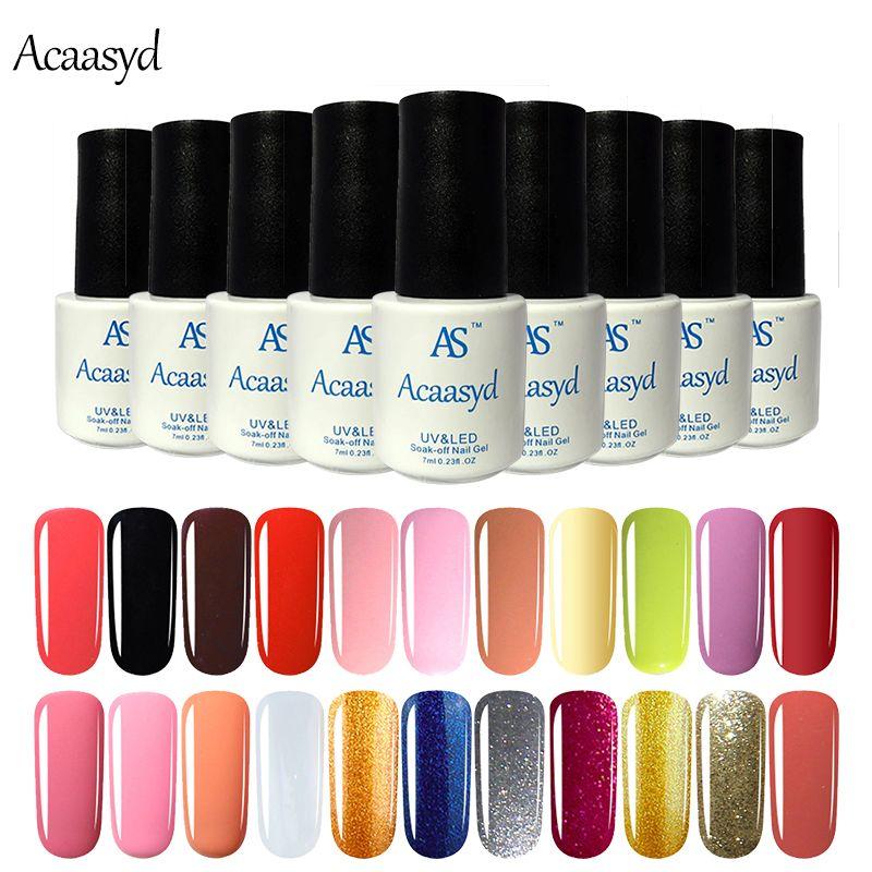 Wholesale- Acaasyd brand lucky color Nail Polish Hybrid Candy DIY Beauty Nail Art Tools 29 Colors soak off vernis semi permanent
