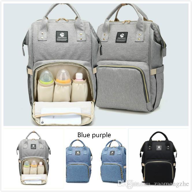 f20b0f75a9368 2018 Retail Fashion Mummy Maternity Nappy Bag Brand Large Capacity ...