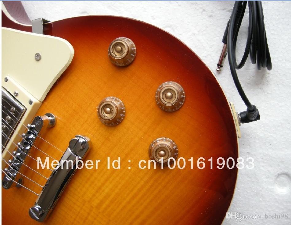 бесплатная доставка высокое качество LP стандартная электрогитара SUNBURST