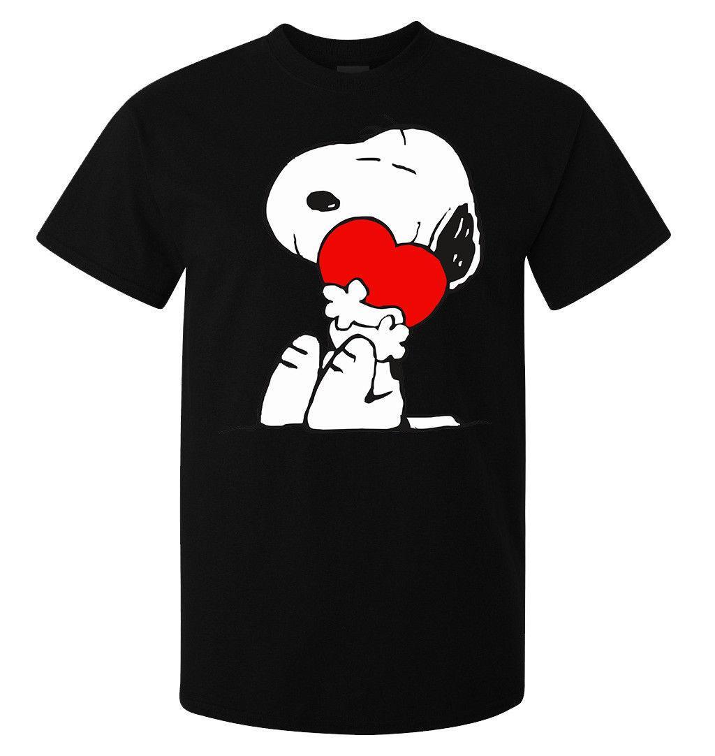 Snoopy San Heart Acquista Valentino Uomo Red Donna Maglietta eWxCodBr