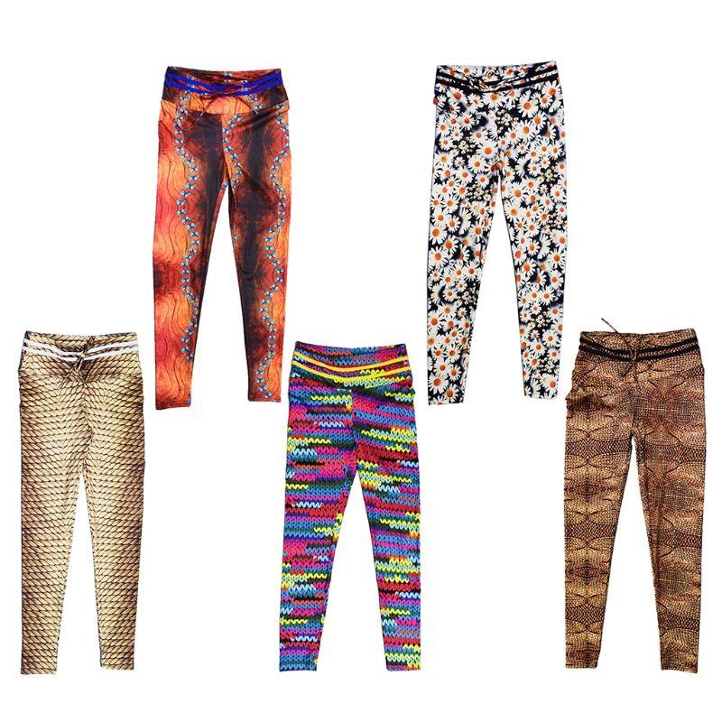 9ab659a315441a 2019 Women Yoga Pants High Waist Sport Workout Running Power Flex Leggings  Printed From Qingfengxu, $35.48 | DHgate.Com