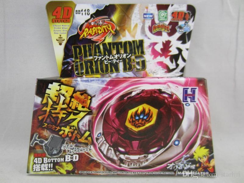 45 MODELOS Beyblade Metal Fusion 4D con Lanzador Beyblade Spinning Top Set Niños Juego Juguetes Regalo de Navidad Para Niños Paquete de caja HH7-1053