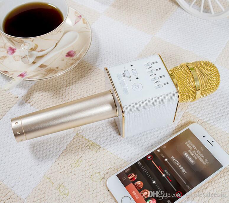 Magic Q9 Bluetooth Wireless Microphone Handheld Microfono KTV With Speaker Mic Loudspeaker Karaoke Q7 Upgrade For android phone 2018
