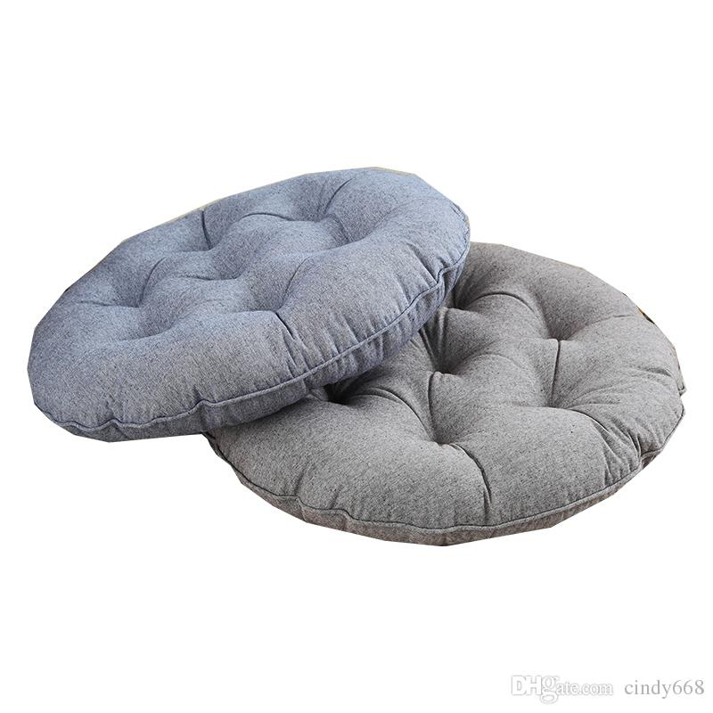 Chair Cushions Dining Room Home Sofa Throw Pillow Floor Mat Office Chair Seat Cushion Sitting Outdoor Furniture Round 48cm 53cm Pad 4 Colors