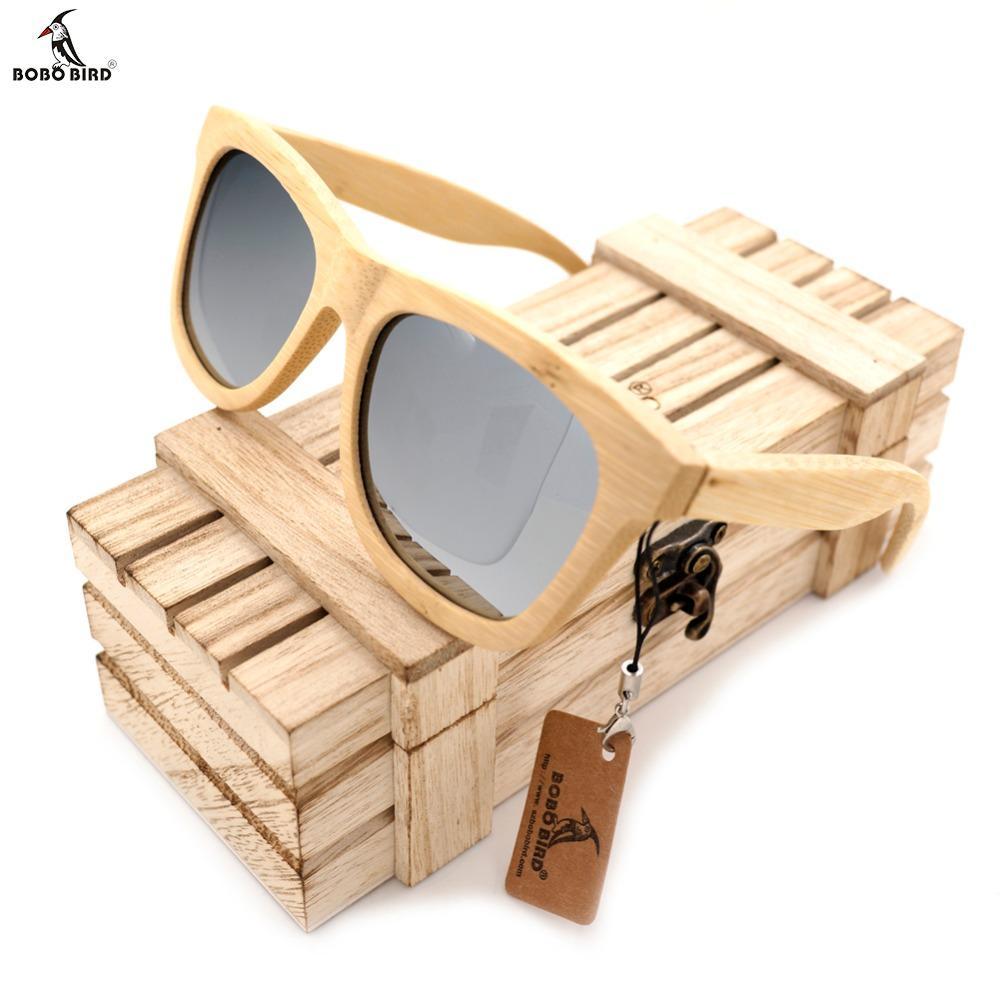 Compre BOBO BIRD Homens De Madeira De Bambu Óculos De Sol Polarizados UV400  Proteção Armações De Óculos De Madeira Com Lente Colorida Na Caixa De  Madeira De ... 6deb02af4f