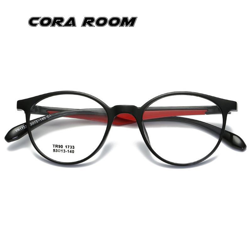 0039f0509bcea Compre Nova Moda Óculos Ópticos Dos Homens De Compressão Flexível Óculos De  Armação De Colisão Homens E Mulheres Tendência Rodada Quadro Mulher Espelho  ...