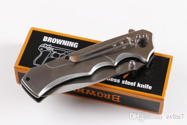 Cuchillos plegables tácticos G10 + Steel Handle Survival Cuchillo plegable de primera calidad Nueva llegada Ceja con caja de papel original