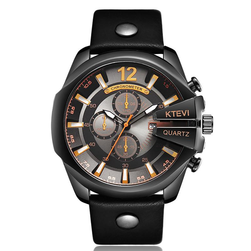 a392f72e6a9a Compre Moda Para Hombre Fresco Reloj De Acero Steampunk Acero Único Lujo  Grande Dial Deportivo Reloj De Pulsera De Cuarzo Para Hombres Reloj Relogio  ...