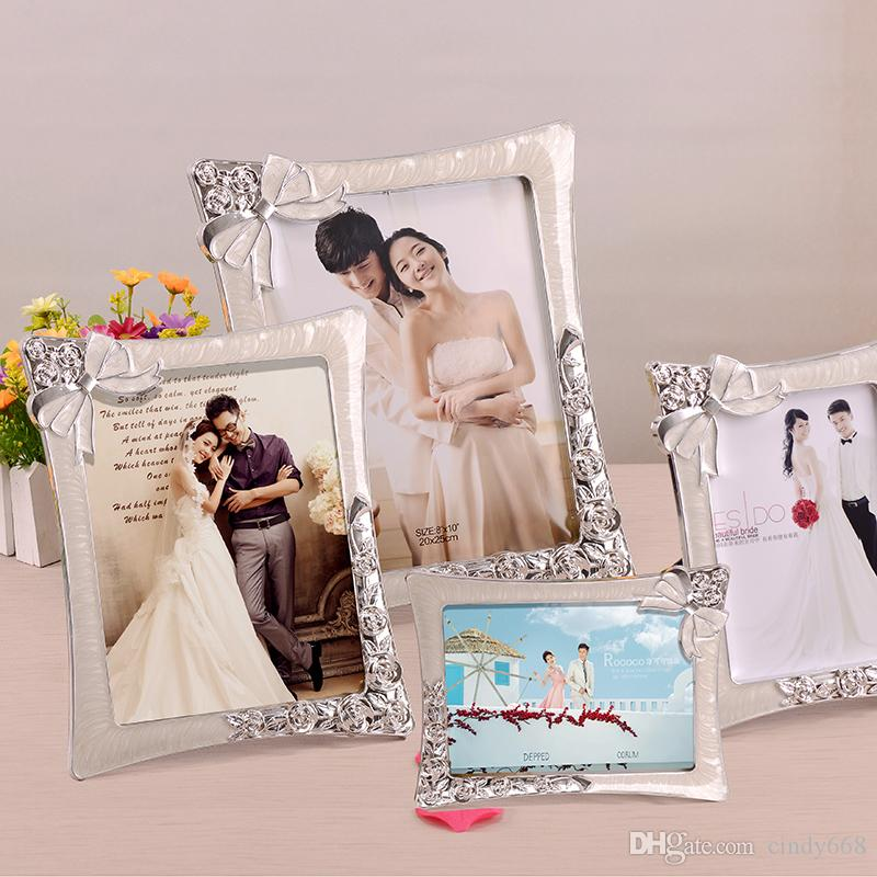 2018 Romantic Bow Decor Resin Picture Frame For Wedding Photo 67810