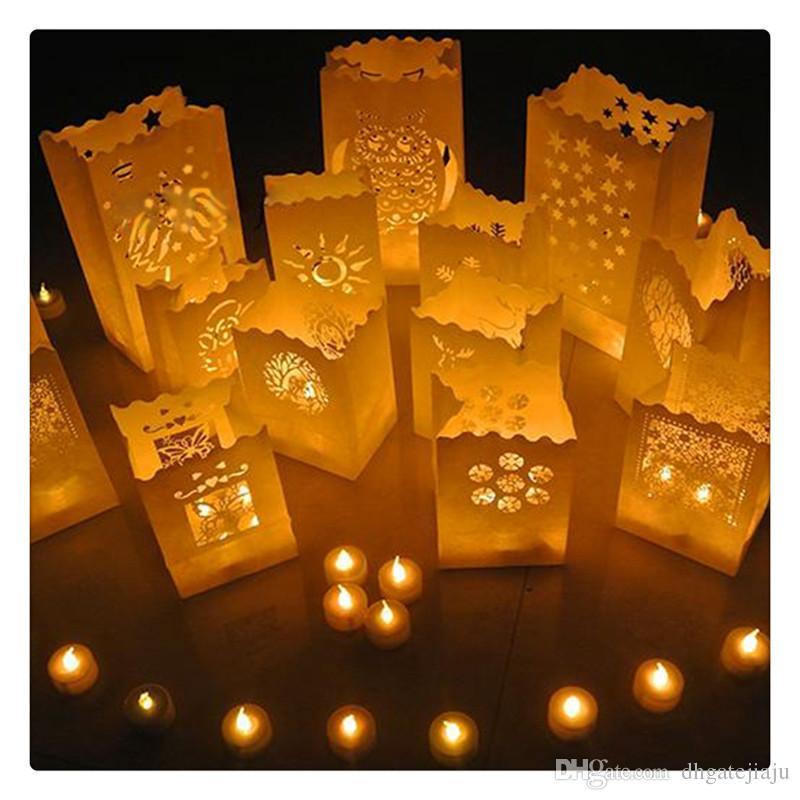 2019 Beautiful Luminary Paper Lantern Candle Bag Flame Retardant
