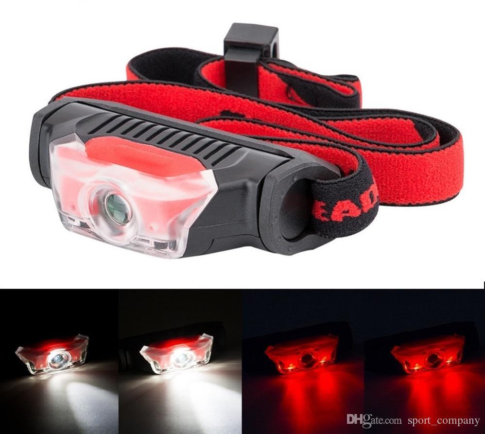 Lampe 1Xpe 2 Led Pour 4 Modes Avec Le Blanc Rouge Frontale Lanterna Imperméable De Poche Phare Bandeau Utilisez Mini Torche Aa lF1JKc