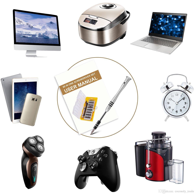 60 in 1 multifunktions elektronische präzision schraubendreher nutdriver bit handy tablet laptops repair tool kit set