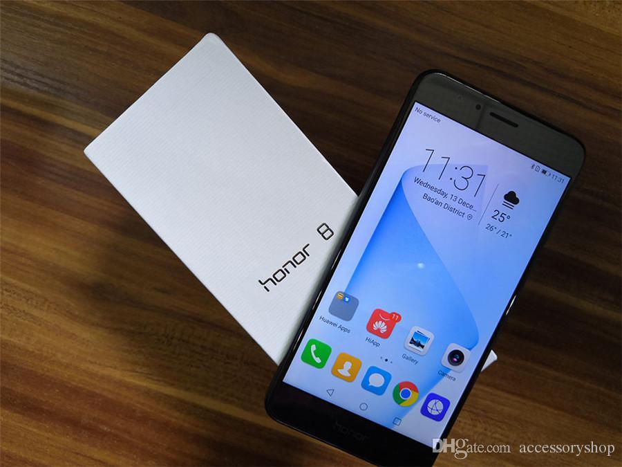 Ricambio originale Huawei Honor 8 AL00 4G LTE 5,2 pollici Octa Core 4 GB RAM 32 GB ROM 12 MP Fingerprint NFC Dual SIM Cellulare DHL 1 pz