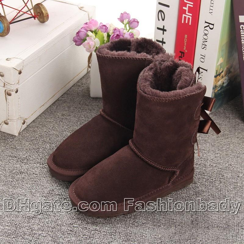 6be5e3574 Hot Sale Winter New Arrival Brand Children Snow Boots Australia Half Boots  3280 Bowtie High Quality Kids Boys Girls Boots Shoes