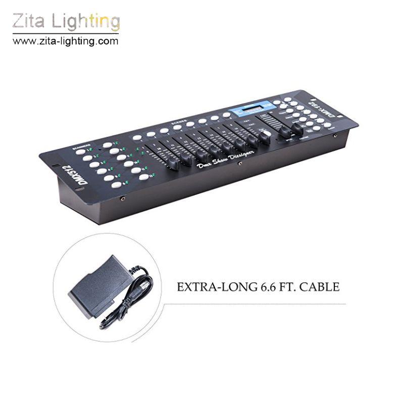 Zita Lighting Lighting Controller 192 DMX 512 Console Portable Lighting Operate Par Lights Moving Head Blinder Stage Lights Fixture Control