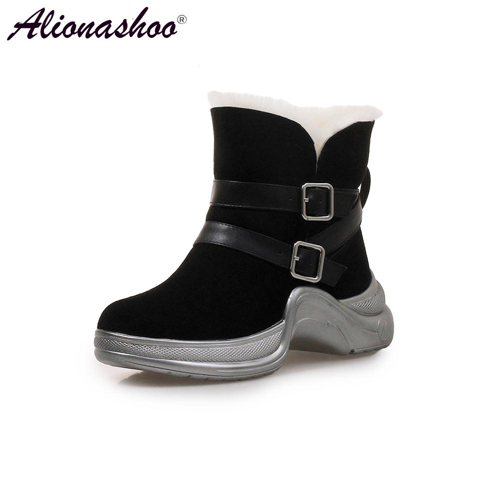 77adb355c Alionashoo Waterproof Snow Boots Women Winter Shoes 2018 Warm Plush For  Cold Winter Fashion Women'S Boots Ladies Ankle Chelsea Boot Mens Chelsea  Boots From ...