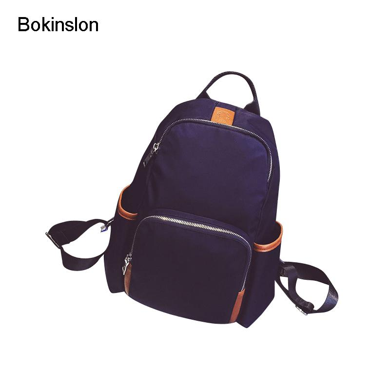 38b7cd1bbc63 Bokinslon Backpacks Girl Bags Fashion Nylon Soft Surface Backpack  Individuality Women Casual College Wind Ladies Backpacks Girl Backpacks  Toddler Backpack ...