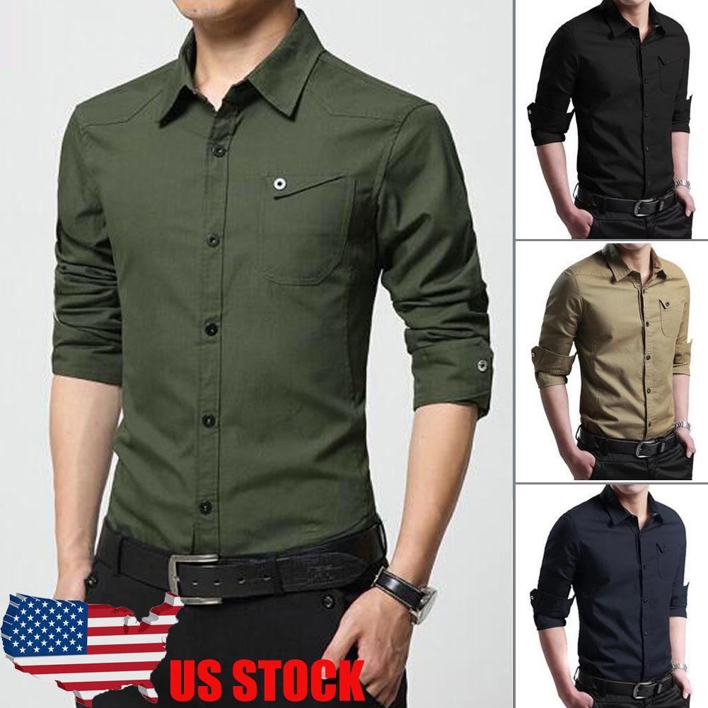 4065e833457 2019 Thefound 2019 New Mens Formal Shirt Long Sleeve Dress Designer  Business Luxury Shirts Regular Fit From Xianfeiyu