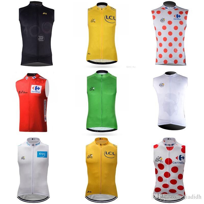 TOUR DE FRANCE Team Cycling Sleeveless Jersey Vest Breathable Quick Dry  Short Sleeve MTB Bike Clothes Maillot Ropa Ciclismo Clothing D426 Vintage  Cycling ... 1441ea4d2