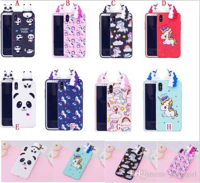 on sale 7d1a9 36898 3D Unicorn Horse Cartoon Soft TPU Case For Huawei P20 P20 Lite P20 Pro  Fashion Panda Bear Animal Cell Phone Gel Back Skin Cover 100pcs