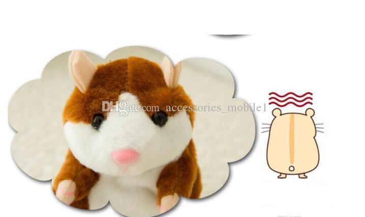 2018 Mignon 15 cm Anime Cartoon Parler Hamster Peluche Jouets Kawaii Parler Parler Son Hamster Parler Jouets pour Enfants