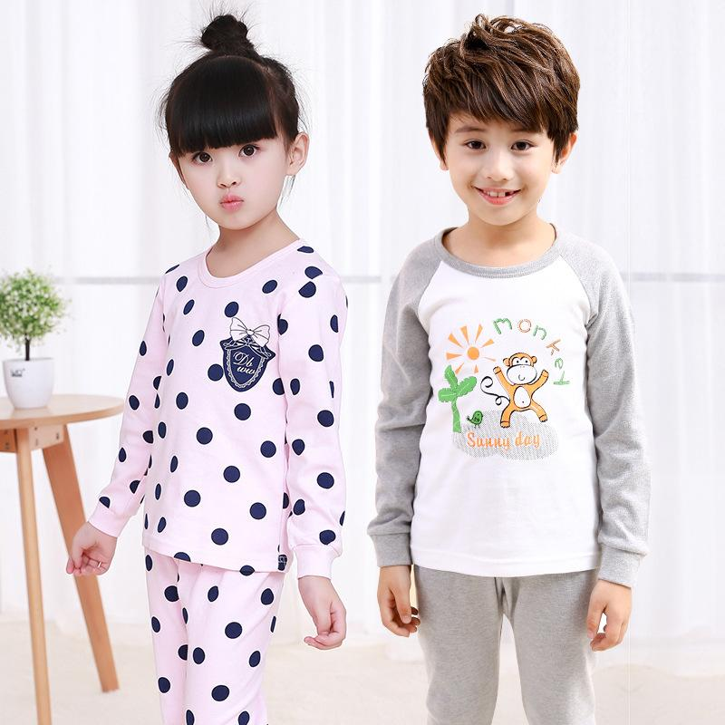 Autumn Winter Kids Long Sleeved Pajamas Sets Girls Pajama Boys Sleepwear  Children Home Clothing Cartoon Baby Nightgown 3 10t Christmas Pjs Kids Kids  Fleece ... 0e8c15343