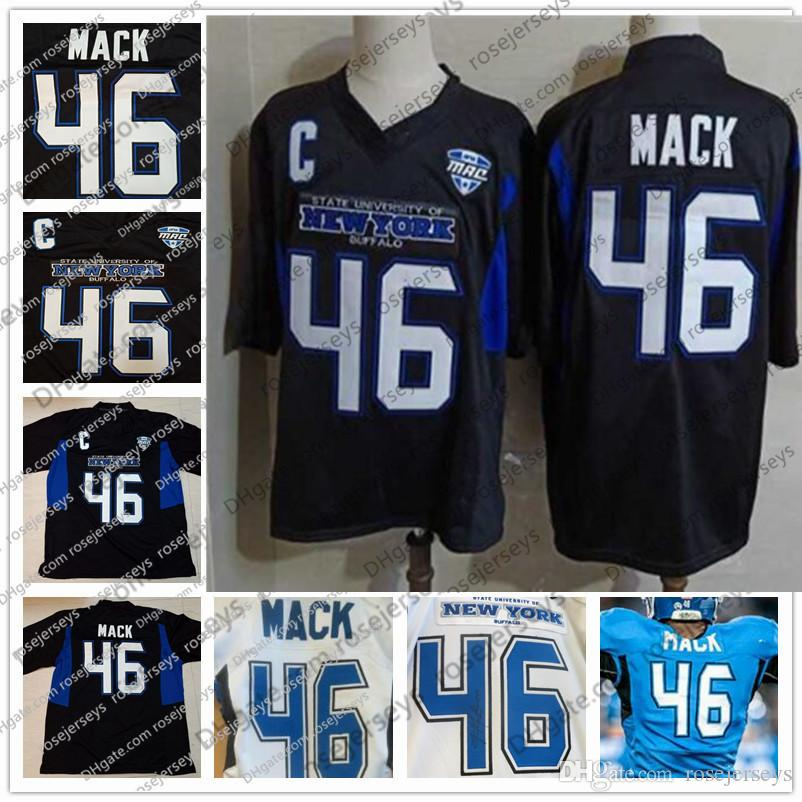48181d827 2019 NCAA Buffalo Bulls  46 Khalil Mack Black Jersey 52 Navy Blue Orange  White Vintage College Football Kid Women Men Youth S 4XL From Rosejerseys