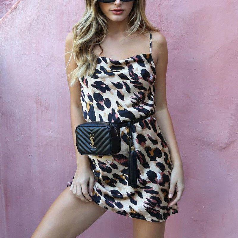 a5ed407824 Women Leopard Print Mini Dress Ladies Sexy Evening Party Clubwear Dress  Sleeveless Summer Sexy Dress Vestisdo Online with  29.08 Piece on  Caicaijin06 s ...